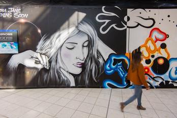 Watergarden Temporary street art mural