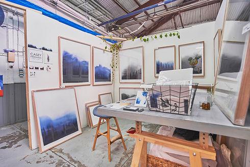 Blender Studios interior, view of Casey Freeman studio
