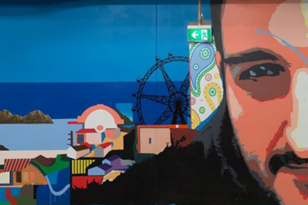 Dockland Mural, 2013, New Quay