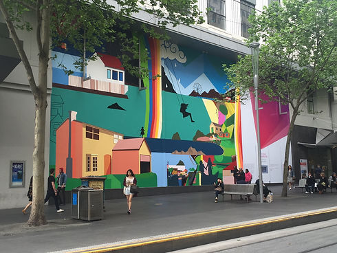Telstra Mural, Bourke St., 2015