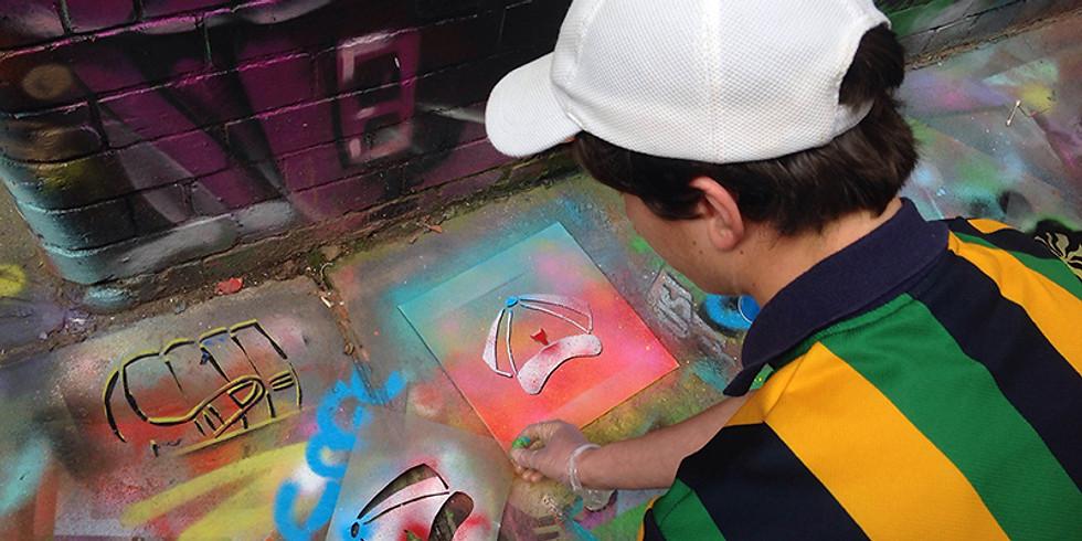 Kids Holiday Workshop - Stencil Art