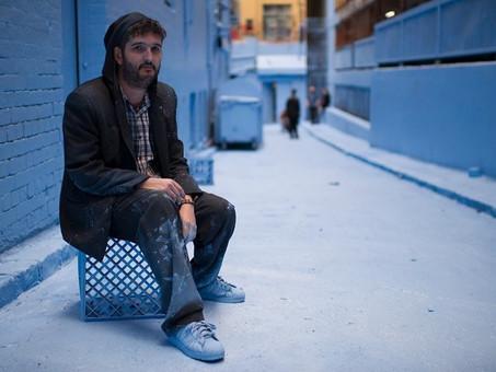 Vandalog: Adrian Doyle paints a Melbourne street art hotspot completely blue