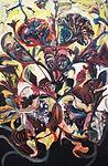 """Carsten Dahl """"Tapestry"""",maleri, olie på lærred, 120x80 cm, 2017"""