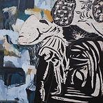 Carstn Dahl,maleri, uden titel