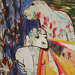 Carsten Dahl, maleri, mor med barn