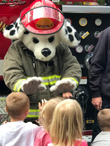 Sparky Teaching Fire Safety