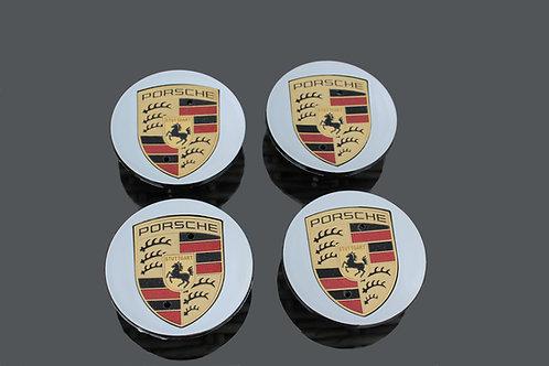 Porsche MACAN Alloy Wheel Centres X 4 (Mirror Finish) 65mm
