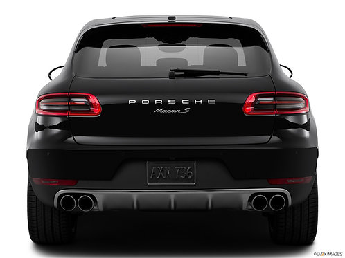 Porsche Letters & Macan S Badge Chrome
