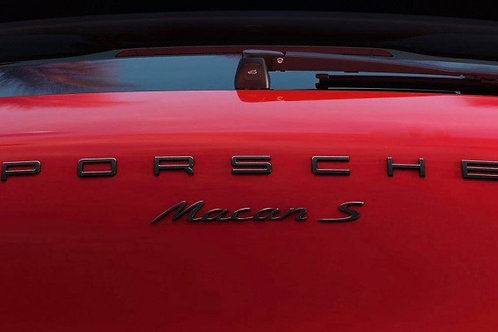 Macan S Badge Satin Black (not letters)