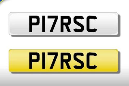 Porsche number plare
