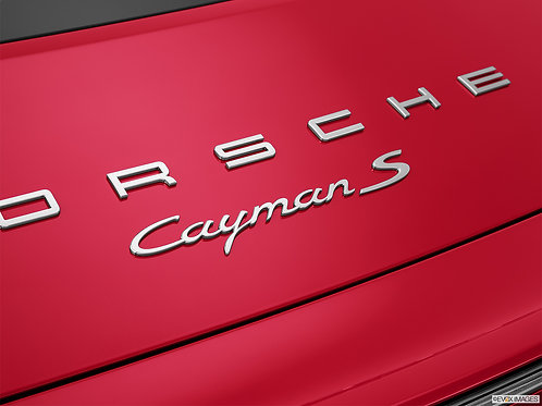 Porsche Letters & Cayman S Badge Chrome