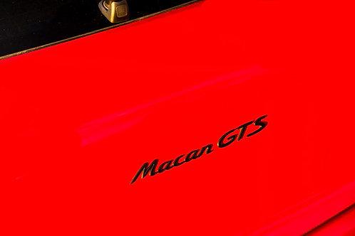 Macan & GTS Badges Satin Black