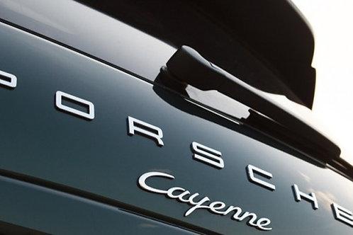 Porsche Letters, Cayenne Badges Chrome