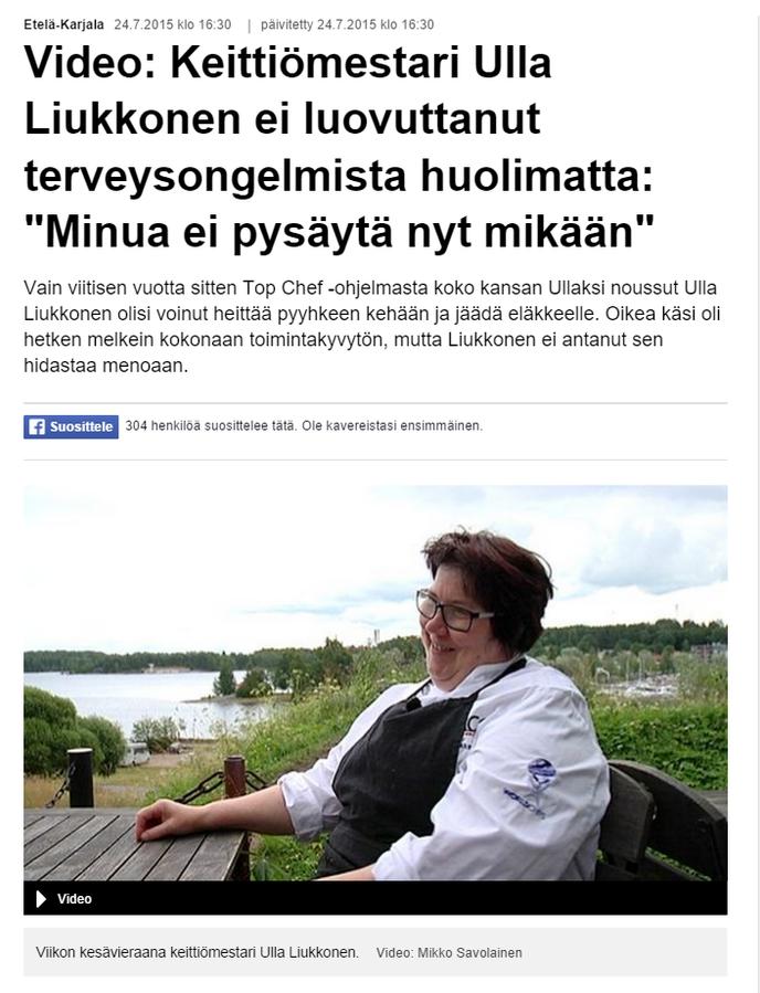 Krouvin Ulla Liukkonen Ylen haastattelussa