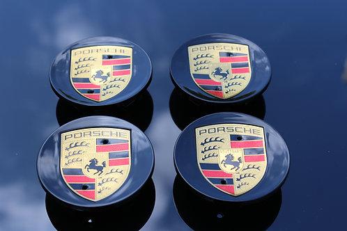 Porsche MACAN Alloy Wheel Centres X 4 (Gloss Black) 65mm