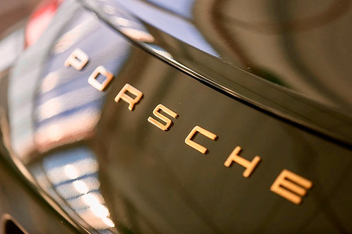 Porsche Letters Badge GOLD