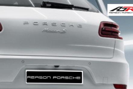 Porsche Letters & Macan S Badge Chrome