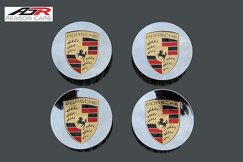 Porsche Alloy Wheel Centres X 4 (Mirror Finish)
