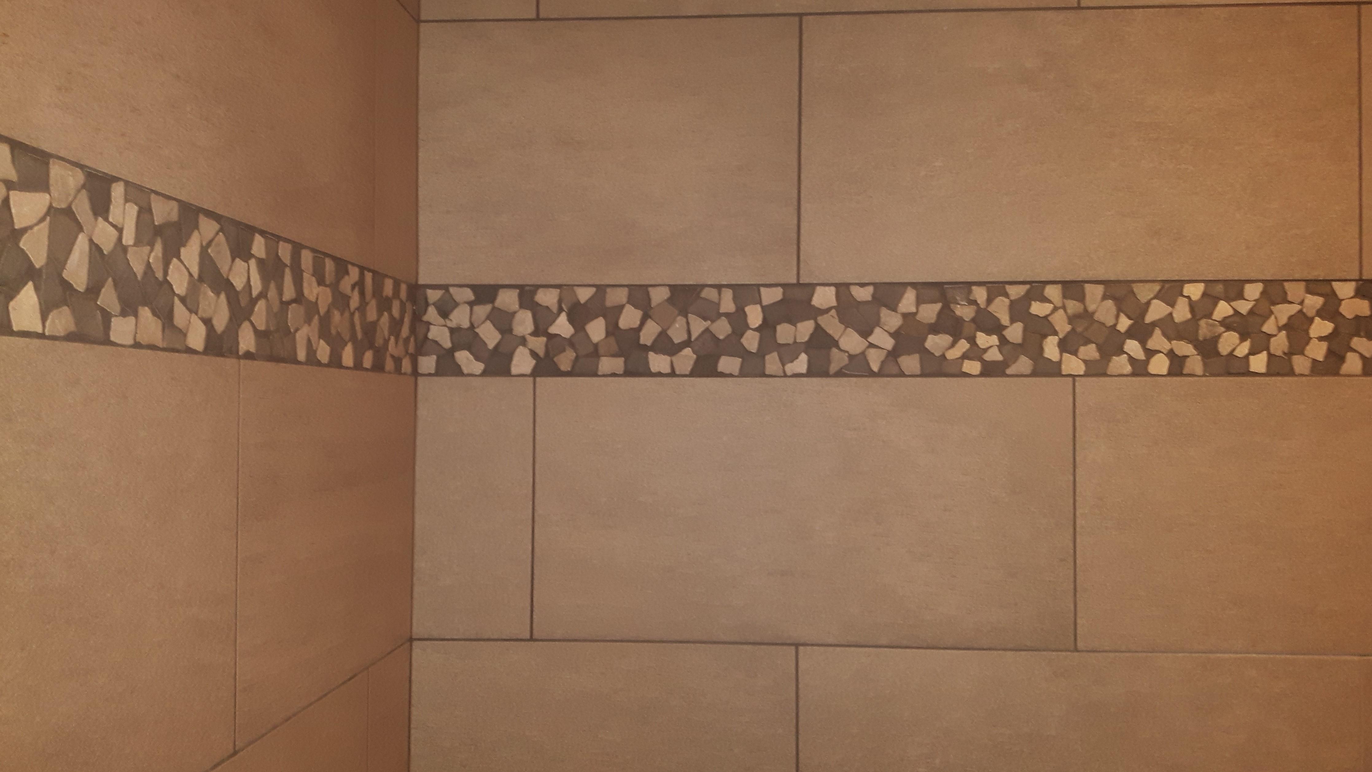 mosaic shower border ceramic tile