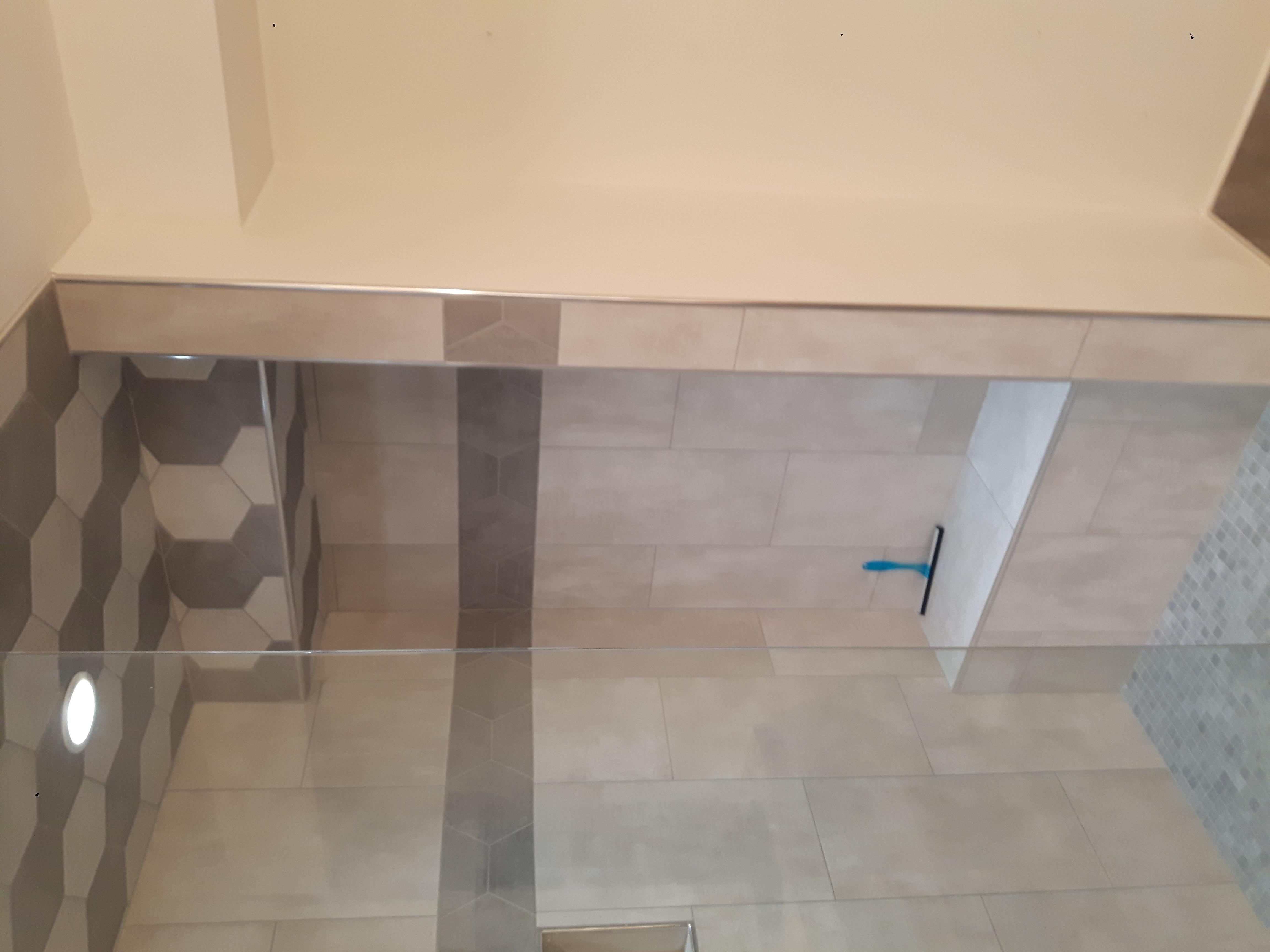 porcelain tile shower unit