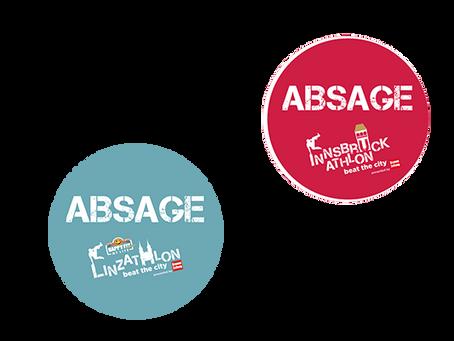 ABSAGE Innsbruckathlon und Linzathlon 2020