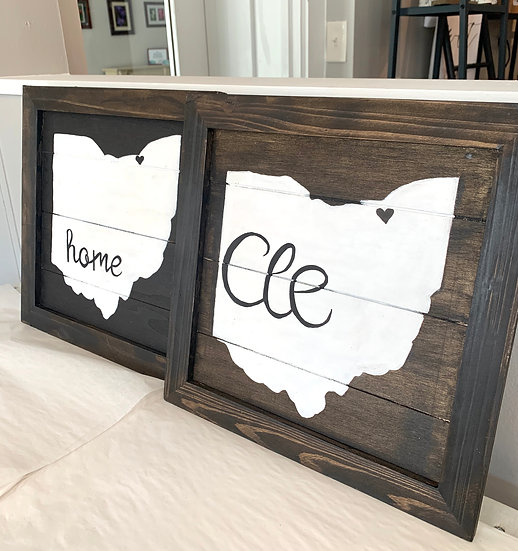 Ohio Wood Signs