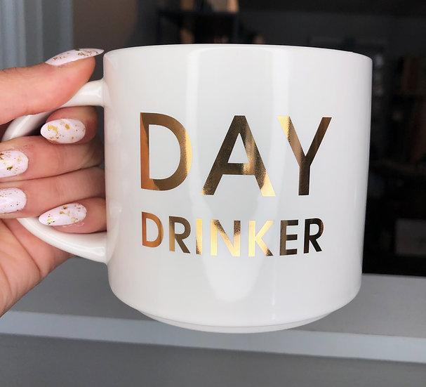 Gold Foil & White Ceramic Mug