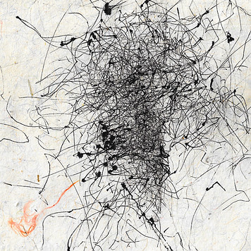 hand made paper wind drawing abstract