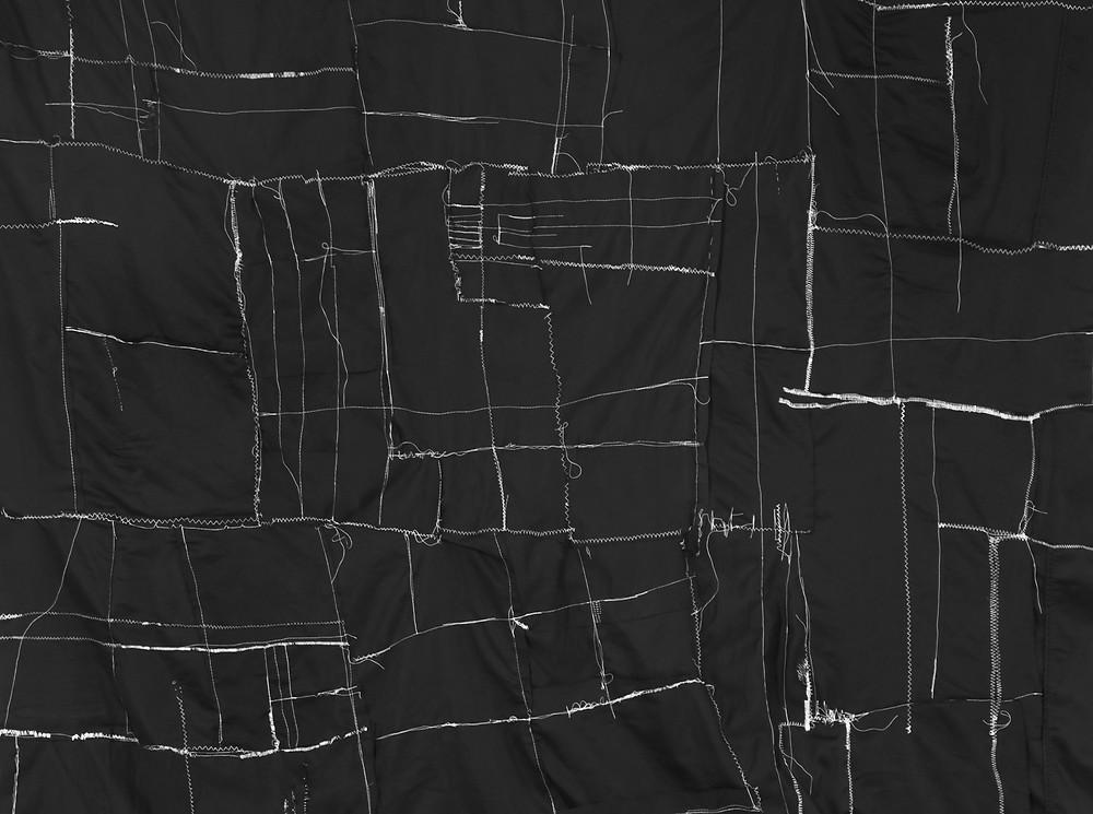 Black textile reflection on narcolepsy by Megan Kennedy