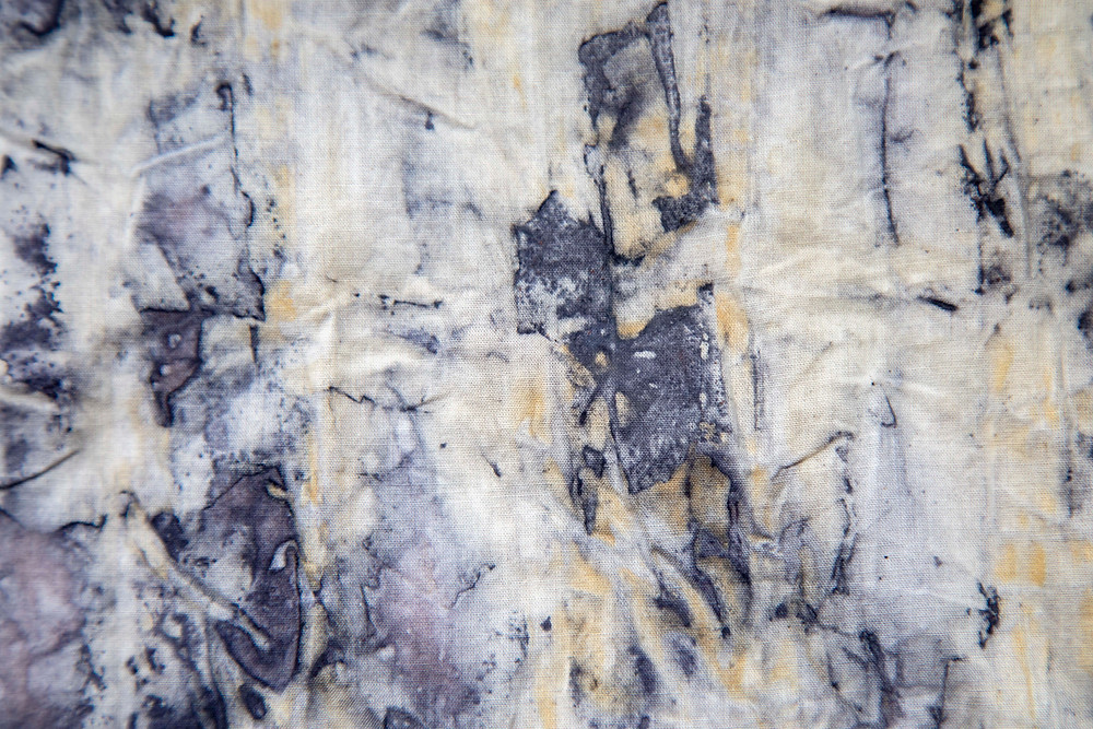 abstract eco printing fabric results