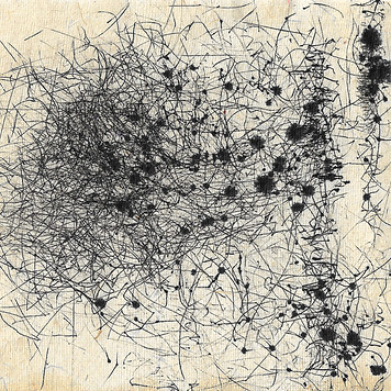 ink spots and lines abstract wind drawing