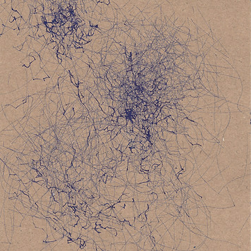 blue ink wind drawing from a wind machine abstract art