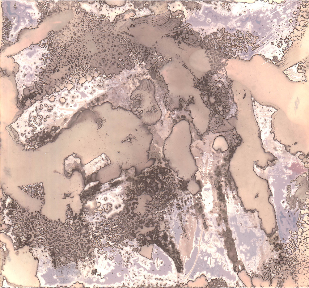 How to make chemigrams - a colour abstract example of a chemigram