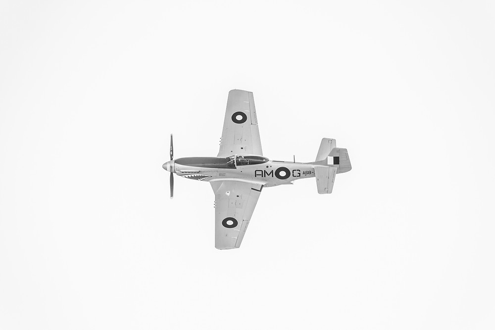 A CA-18 Mustang Mk23 in flight photographed by Megan Kennedy