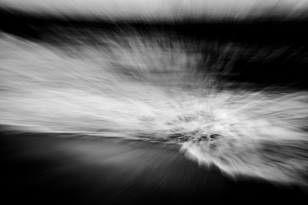An ICM image of waves crashing on the shoreline in Jervis Bay, Australia.