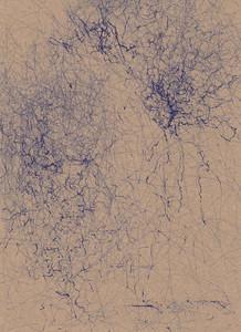 dark blue abstract wind machine drawing