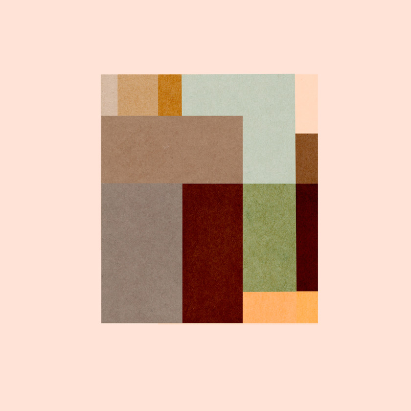 A square design made up of muted colours