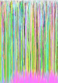 applying a hex editor to a photograph to create glitch art