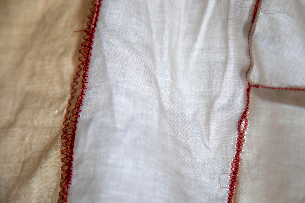 A detailed photograph of a textile artwork about sleep by Megan Kennedy