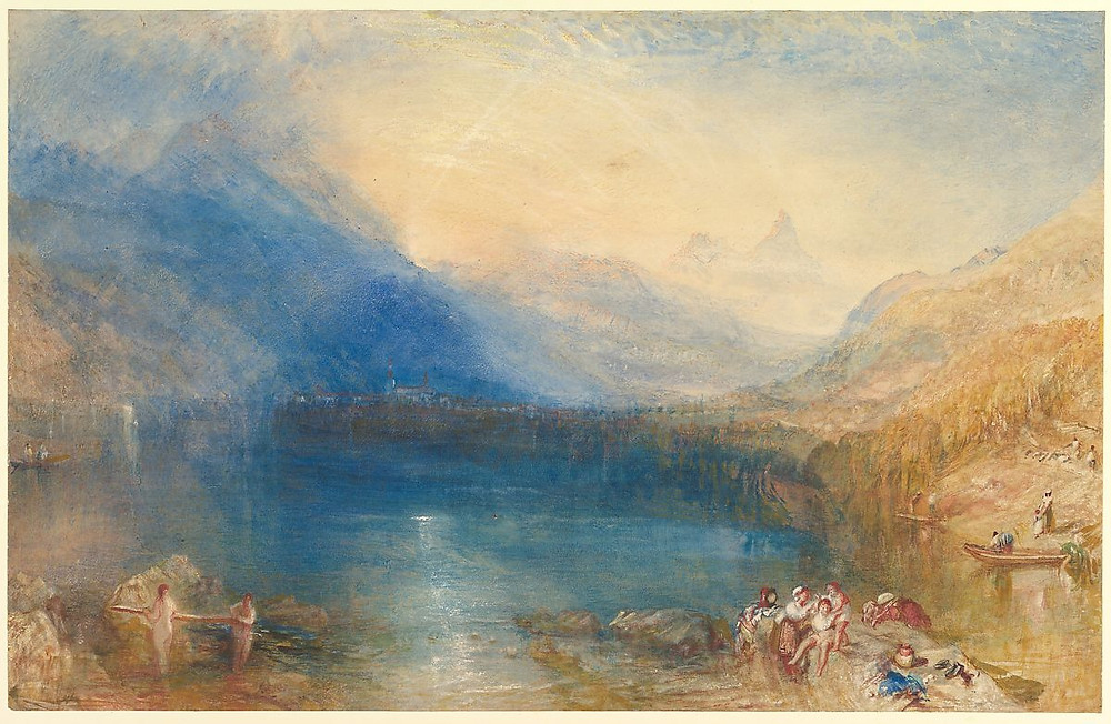 The Lake Of Zug by J.M.W. Turner similar to ICM, intentional camera movement photography painting