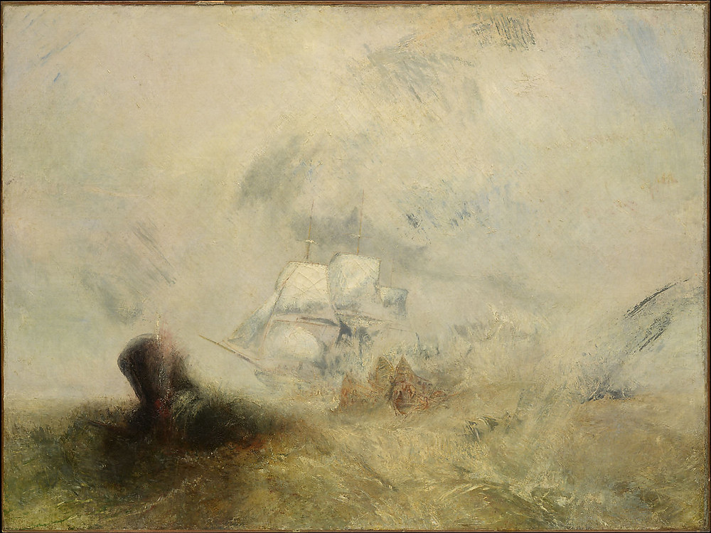A painting by JMW turner with similarities to intentional camera movement