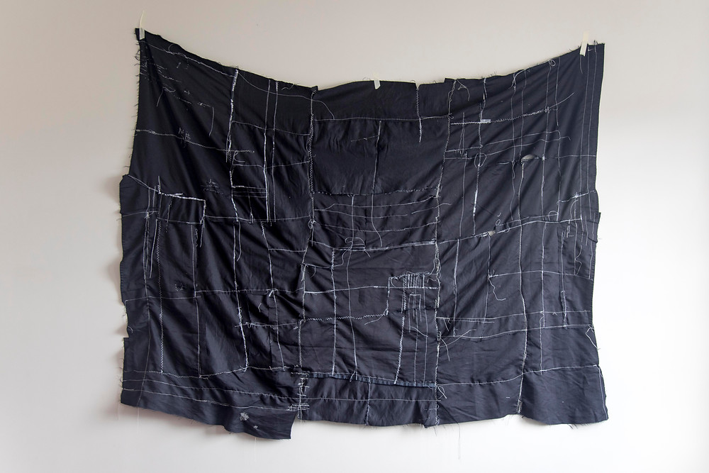 Untitled (Sleep II), 2021, cotton and tape by Megan Kennedy