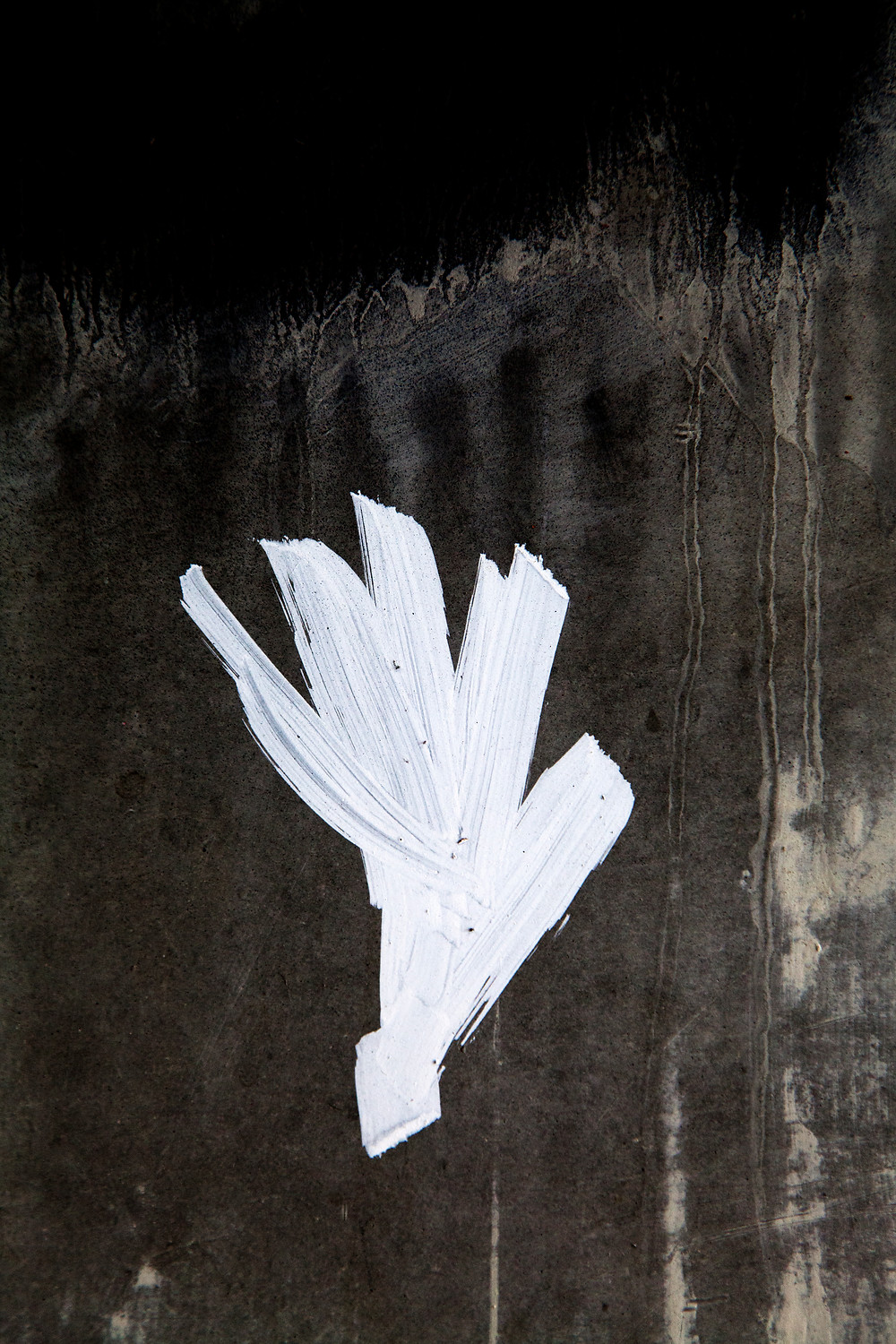 urban abstract photography with white paint