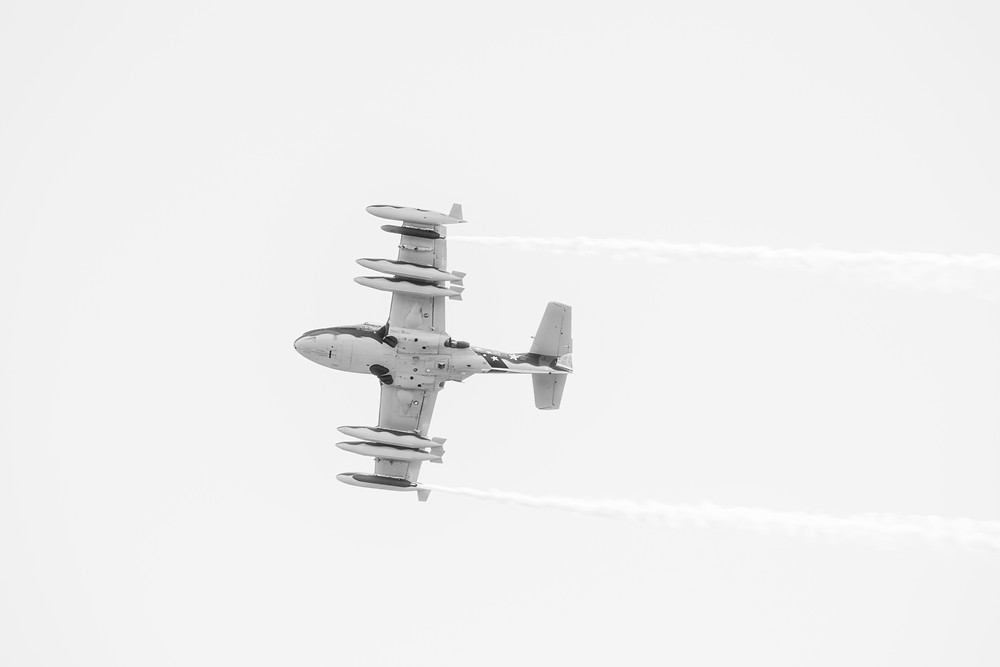 A display by the Temora Aviation Museum's  Cessna A-37B Dragonfly. Photograph by Megan Kennedy