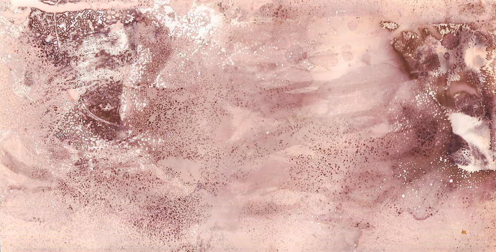 How to make a chemigram - a pink and purple abstract image made from the chemigram process