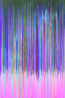 hex editing glitch art blue and pink