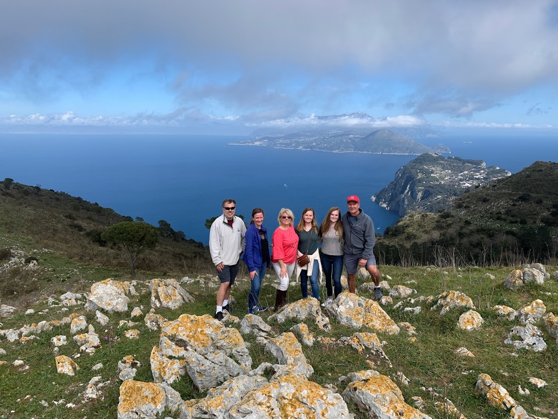 Family Photo on Mt. Solaro, Capri