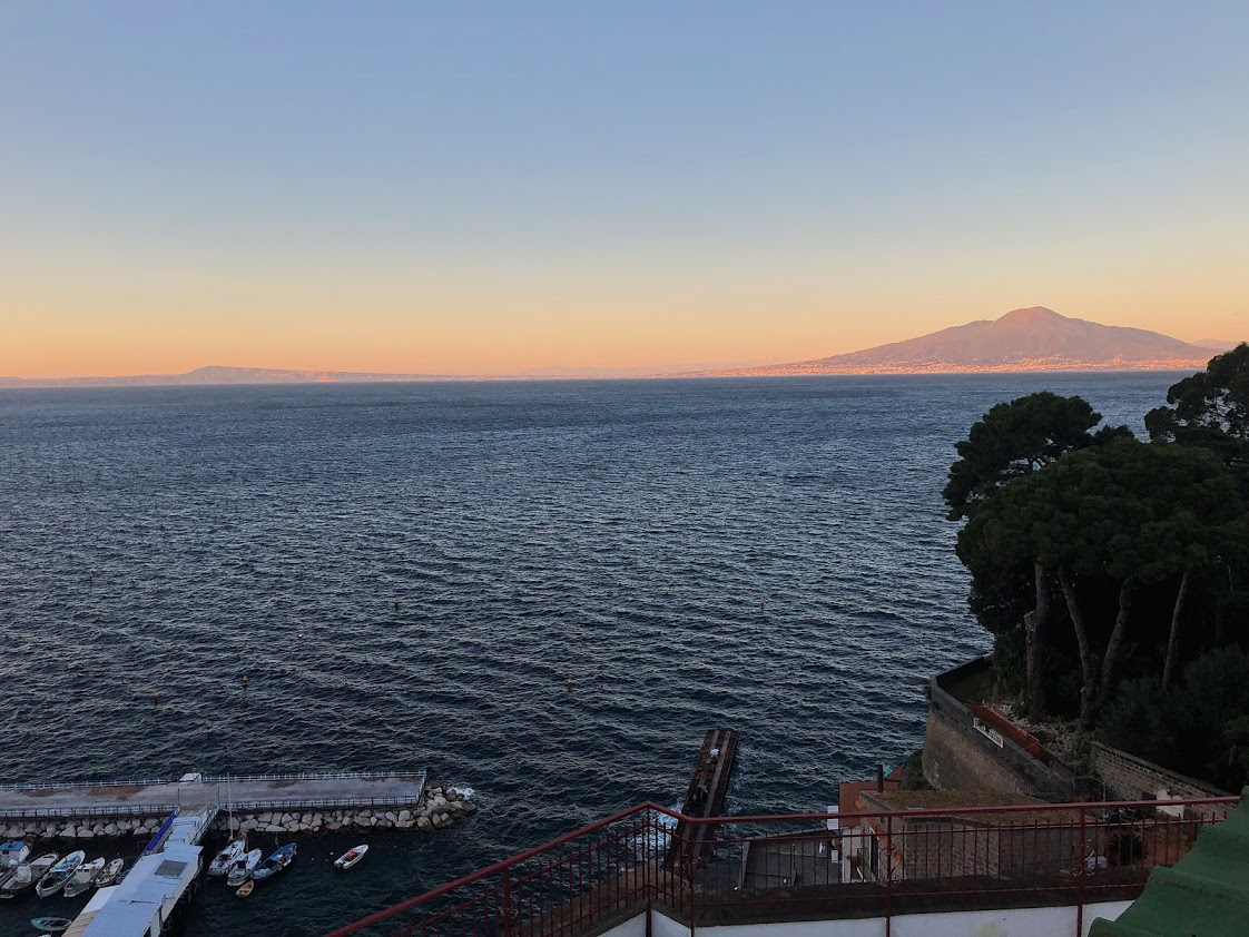 View of Mt. Vesuvius from Sant'Anna Institute