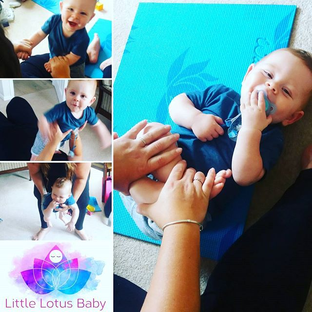 Well done Jake for graduating Little Lotus Baby Yoga Today x