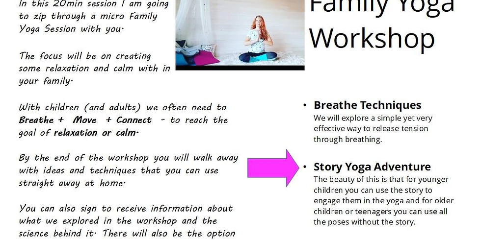Family Yoga Relaxation Workshop